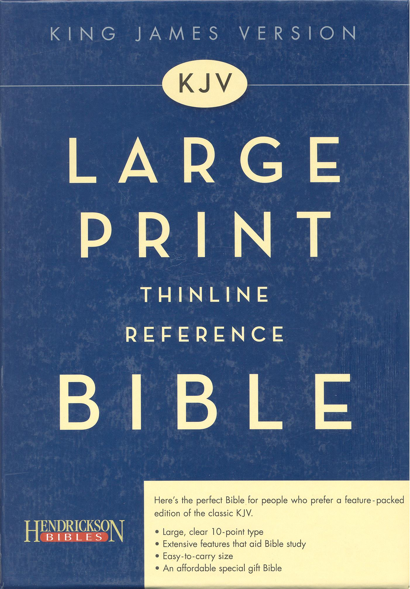 Hendrickson Large Print Thinline Reference Bible